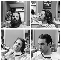 a dose of beard-begone Barbers Cut, The Art Of Shaving, Haircuts For Men, Men's Haircuts, Full Beard, Male Grooming, Salon Style, Grow Out, Vintage Hairstyles
