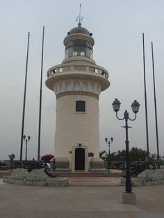 Las Peñas Lighthouse, Guayaquil, Ecuador, South America.