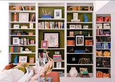 Bookshelf: Color inside, white outside