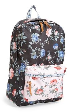 Herschel Supply Co. 'Heritage Mid Volume' Flower Print Backpack | Nordstrom $55