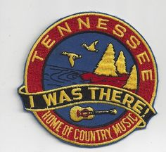 Souvenir Patch State of Tennessee Home of Country Music | eBay