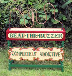 Beat the Buzzer Game - perfect for a village fete style wedding or party!  Can you get round the wire without setting the buzzer off?