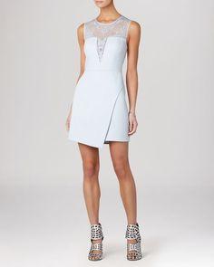 Bcbgmaxazria Dress - Kinsley Sleeveless Lace Fit and Flare