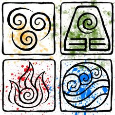 fire wind earth water tattoo - Google Search