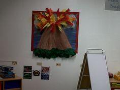 another volcano classroom display Classroom Display Boards, Classroom Displays, Classroom Decor, Classroom Projects, School Projects, Projects To Try, School Ideas, Volcano Projects, Science Fair Projects