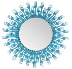 Plastic Fork Round Mirror 3 Level