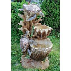 Design Toscano Turtle Cove Cascading Garden Outdoor Fountain - SS1646