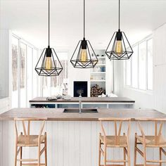 31 Wonderful Farmhouse Kitchen Lighting Decor Ideas And Remodel. If you are looking for Farmhouse Kitchen Lighting Decor Ideas And Remodel, You come to the right place. Farmhouse Kitchen Lighting, Modern Farmhouse Kitchens, Rustic Kitchen, Cool Kitchens, Vintage Chandelier, Kitchen Chandelier, Different Light Bulbs, Custom Wood Doors, Bar Restaurant