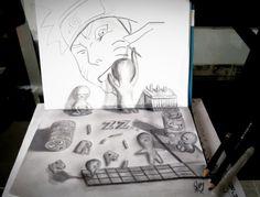 Naruto dibujando