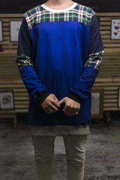 Blue Crew | Clothes I've Made Limited Blue Crew, Crew Clothing, Long Sleeve, Sleeves, Mens Tops, T Shirt, Clothes, Fashion, Supreme T Shirt