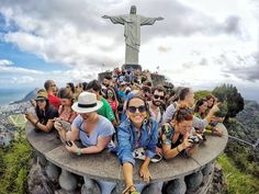Selfie no Cristo Red