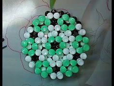 水晶串珠 趣味小物 隔熱墊杯墊 - YouTube