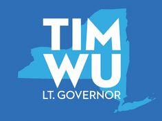 Tim Wu for Lt. Governor campaign logo