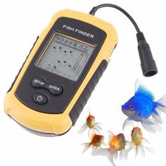100M LCD Fish Finder Alarm Sonar Depth Sensor Portable Fishfinder Transducer #Affiliate