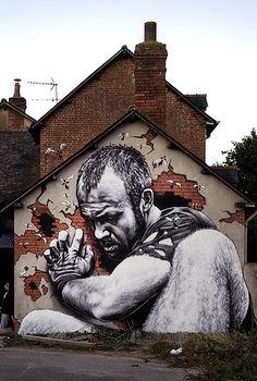 by MTO en Rennes #street art # graffit looks like flocki from vikings