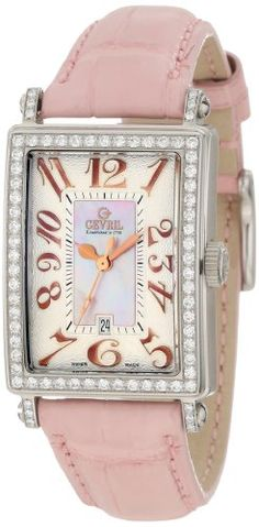 Gevril Women's 7248RL Mini Quartz Avenue of Americas Pink Diamond Watch, $4,670.75 , women watch