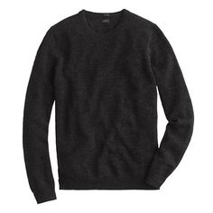 Slim slub merino crewneck sweater