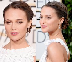 14 of the Prettiest Golden Globes Updos from Every Angle - Alicia Vikander  - from InStyle.com