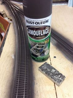 Rustoleum Camouflage Paint to paint tracks