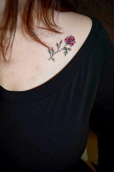 My first tattoo!  #tattoo #rose #rosetattoo #colourtattoo