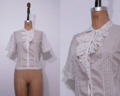 1940s John Wanamaker off white shirt / Vintage 40s by Ainshent, $59.00