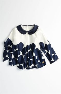 This would be so easy to print at home with a stamp ;)   LITTLE MARC JACOBS Heart Print Blouse