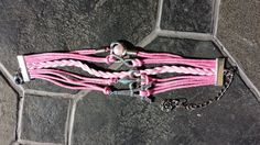 Hey, I found this really awesome Etsy listing at https://www.etsy.com/listing/242901727/pink-leather-infinity-paris-bracelet