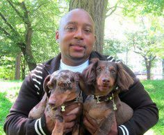 Shark Tank's Daymond John and his two Doxies...Posted on Evo and Eli's Love Box