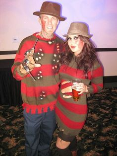 Freddy Mr and Mrs couples costume Hot Couple Costumes, Couple Halloween Costumes, Halloween Outfits, Adult Costumes, Cosplay Costumes, Halloween 2015, Halloween Party, Halloween Ideas, Halloween Customs