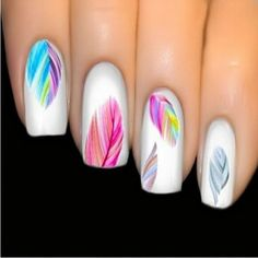 Colorful Feathers Water Transfer Stickers Nail Art Individual Designs Nail Decal Decoration Beautiful Women's Nail Tool NA345 Nail That Deal http://nailthatdeal.com/products/colorful-feathers-water-transfer-stickers-nail-art-individual-designs-nail-decal- http://www.airbrush-kit.net