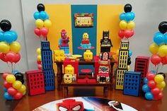 Aluguel Decoração - Lego Heróis + Prédios