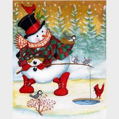 Snow Pals, snowmen, snowman art from master painter of all things Christmas, Joseph Holodook Christmas Card Images, Christmas Clipart, Vintage Christmas Cards, Christmas Pictures, Christmas Snowman, Winter Christmas, All Things Christmas, Holiday Cards, Christmas Crafts