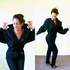 Vintage 80's jumpsuit/ GAMMA nylon onepiece/  by SawtoothVintage, $44.00