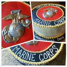 Usmc, Marines, Marine Corps Cake, Dad Birthday Cakes, Going Away Parties, Character Cakes, Boot Camp, Erika, Yummy Treats