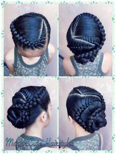 quick and easy braided hairstyles Face Shape Hairstyles, Baby Girl Hairstyles, Braided Hairstyles, Teenage Hairstyles, School Hairstyles, Updo Hairstyle, Braided Updo, Prom Hairstyles, Updo Styles