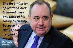 That's what you call a first minister