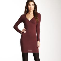 "American Apparel Sz M Cranberry Red Bodycon Dress American Apparel Sz M Cranberry Red Bodycon StretchLong SleeveDress Bust 32-34Length 32 1/2"" Excellent used condition  American Apparel Dresses Long Sleeve"