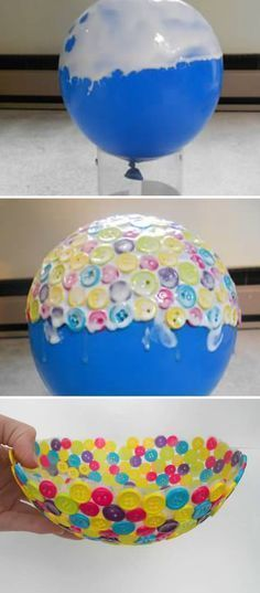 Create a Unique Bowl Using Old Buttons Create a Unique Bowl Using Old Buttons,Basteln…dies und das ☺ Bol de botones More Related posts:Two Toilet Paper Roll Spider Crafts for Kids - Crafty Morning -. Cute Crafts, Crafts To Make, Easy Crafts, Craft Projects, Crafts For Kids, Stick Crafts, Craft Ideas, Homemade Crafts, Kids Diy