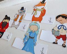 Pinocchio Hand Drawn Paper Finger Puppets By Curmilla di Curmilla