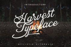Harvest Typeface by inksunmildertype™ on @creativemarket