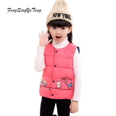2017 Boy's Girl's Cotton Vest Baby Girls Waistcoat Toddler Baby Vest Girls Jackets Outerwear Winter Children Outerwear Clothing
