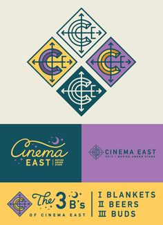 Cinema East by Lauren Dickens, design, branding, Graphic Design Branding, Corporate Design, Identity Design, Brand Identity, Graphic Designers, Typography Logo, Typography Design, Vector Logos, Compass Logo