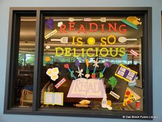 Oak Brook Public Library Youth Services Blog: Check Out our Tasty Reading Is So Delicious Bulletin Board Display!