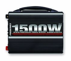Schumacher PSI-1500 DSR ProSeries 1500 Watt Analog Power Inverter by Schumacher. $181.43. Schumacher's PSI-1500 ProSeries Analog Power Inverter converts 12 Volt DC into 115 Volt AC household current. A built-in, high speed cooling fan helps to keep the unit cool. Additional features include, safe thermal, over-Voltage and low-Voltage shutdown, reverse polarity protection, rocker on/off switch with LED indicator and dual GFCI grounded outlets with built-in circuit breaker and re...