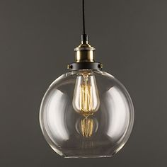Industrial Factory Pendant Lamp - Antique Brass One-Light Fixture Glass Shade,Cafe Dining Room Pendant Light 4822021 2016 – £46.19