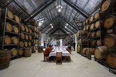 Barrel Room  set for a Private Tasting