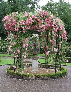Rose Gazebo, Warwick Castle in the Rose Garden by Andrew Pescod, via Flickr