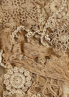 Old lace Crochet perfect for lace journals. I love this idea for journal vintage pics of ancestors. I watched my Grandma C. embroidery thread into lace when I was a child.