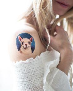 Chihuahua! 1 of 9 new dog tattoos by @sashaunisex !