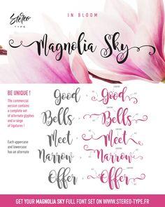 Magnolia Sky - Dafont.com FREE